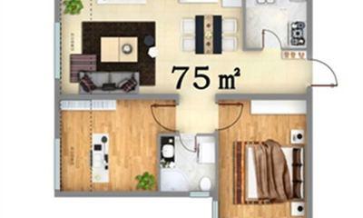 两居室 75㎡