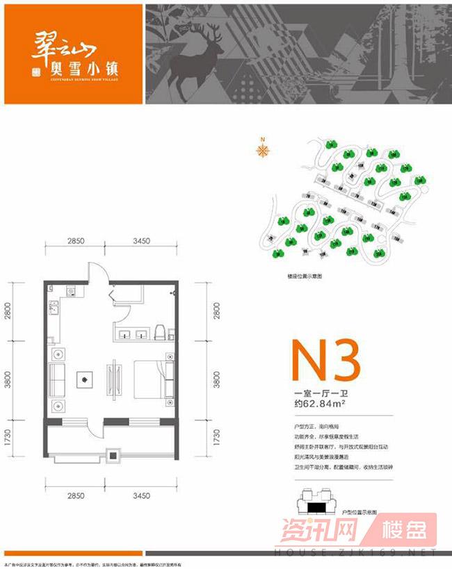 N3户型 62.84㎡