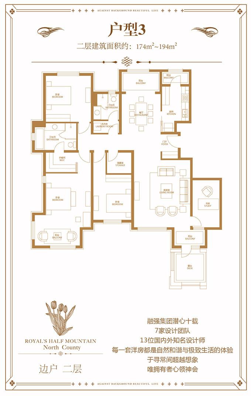 洋房户型3 二层 174㎡
