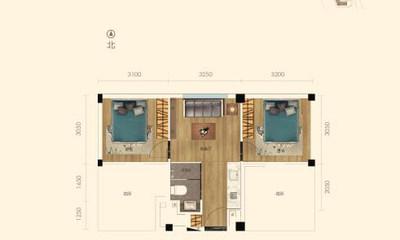 55.68㎡公寓户型