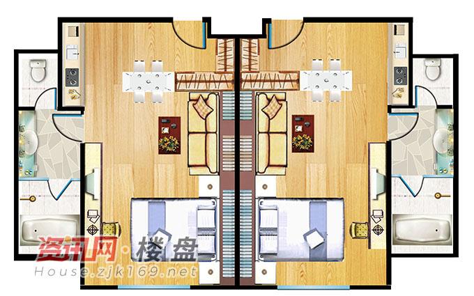一室一厅一卫公寓户型